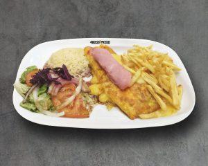 omelete de queijo e fiambre